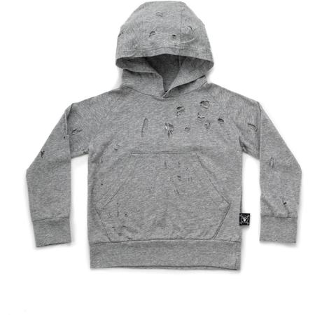 Kids Nununu Deconstructed Hoodie - Heather Grey