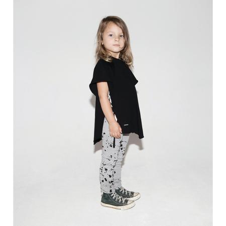kids nununu light poncho - black