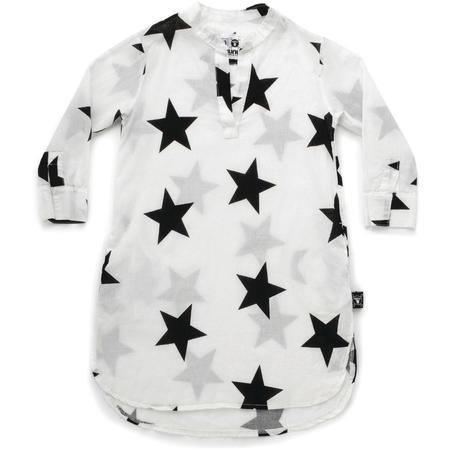 kids nununu star kaftan - white