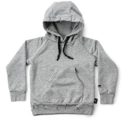 KIDS nununu torn hoodie - heather grey