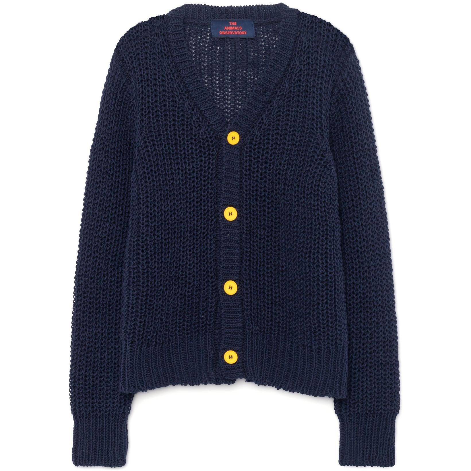 Kids The Animals Observatory plain raccoon kids cardigan navy blue