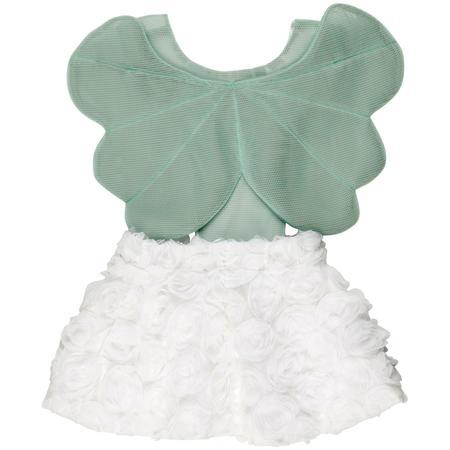 Kids Wauw Capow By Bangbang Copenhagen Angel Dress - White/Mint