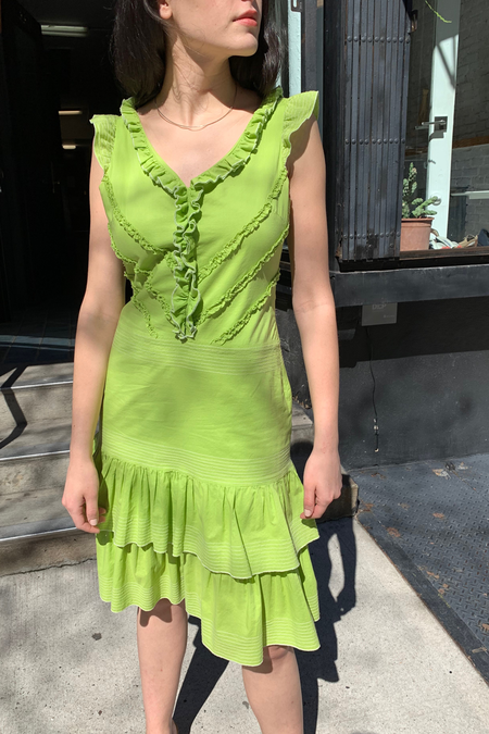 VINTAGE MOSCHINO DRESS - LIME