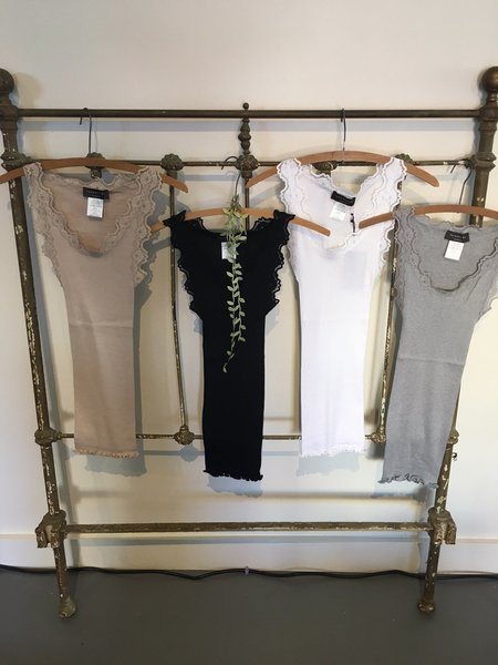 Rosemunde Silk Cotton Lace Tank
