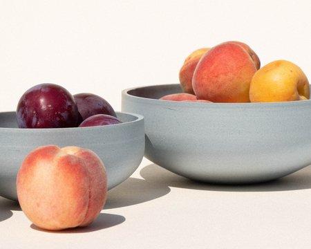 Luke Eastop Trio of Porcelain Bowls - Blue