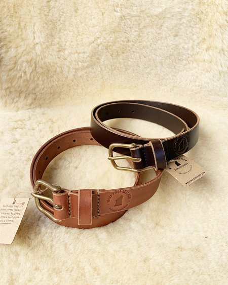 WOLF PACK LEATHER BELTS - Natural