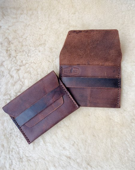WOLF PACK LEATHER WALLET - Natural