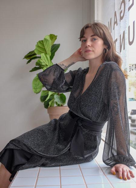 Megan Huntz Heana Sparkle Wrap Dress