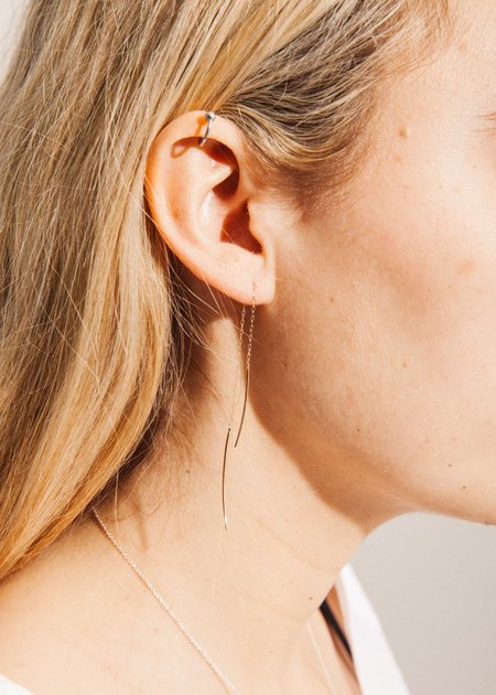 Jerry Grant Pull Through Earrings - 14K Yellow Gold
