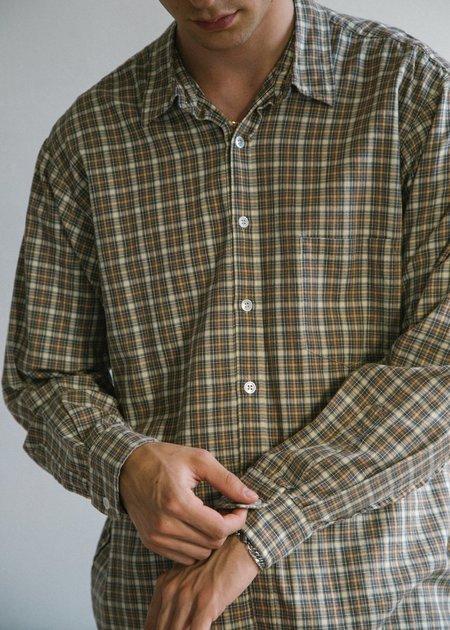 Steven Alan Japan Reverse Seam Shirt - Beige Check