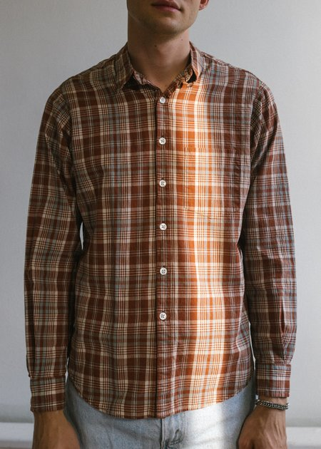 Steven Alan Japan Reverse Seam Shirt - Brick Check