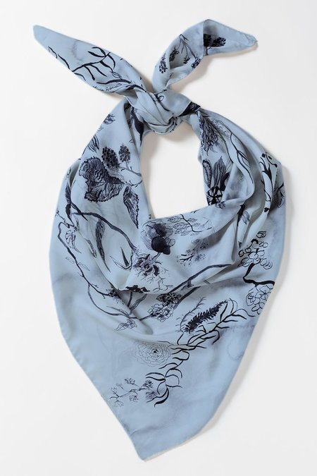 Olivia Wendel Blue Bloom Scarf