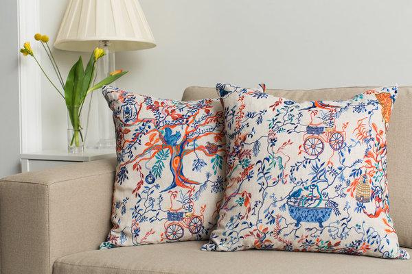 Olivia Wendel Wonderland Afternoon Linen Pillow