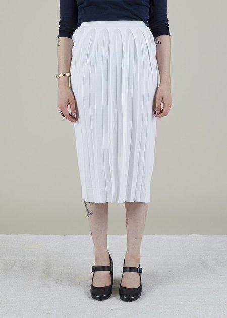 MJ. Watson Wide Pleat Skirt - White