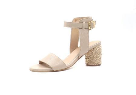 KAANAS tenedos yute round heels - beige