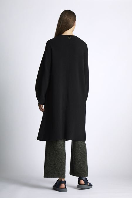 Oyuna Eda Knitted Cashmere Coat - Black