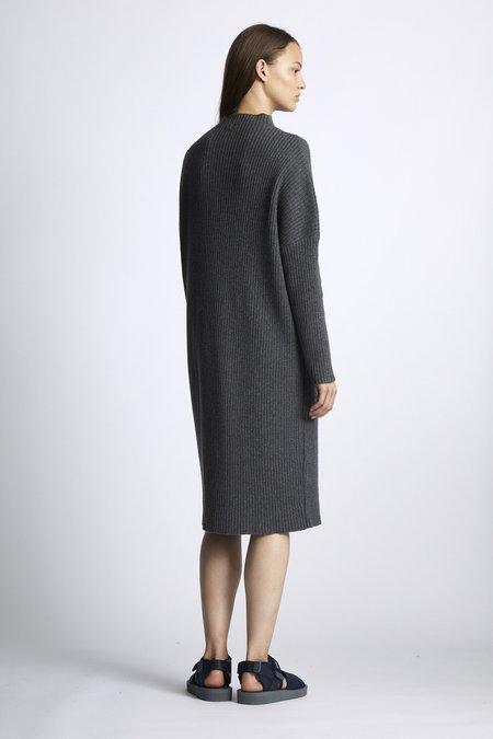 Oyuna Miri Knitted Cashmere and Wool Dress - Slate Grey
