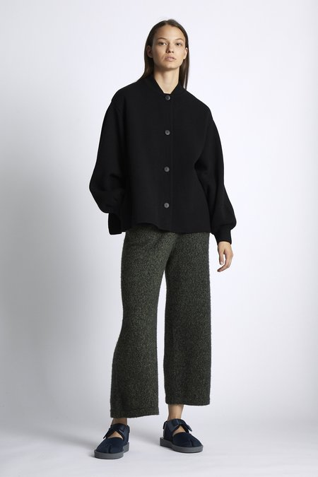 Oyuna Nyoko Knitted Cashmere Jacket - Black
