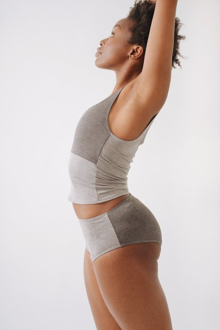 Soft Focus Cami + Brief Set – Grey Mix