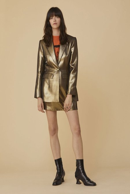 Alexa Chung Gilver Single-Button Jacket - Gold