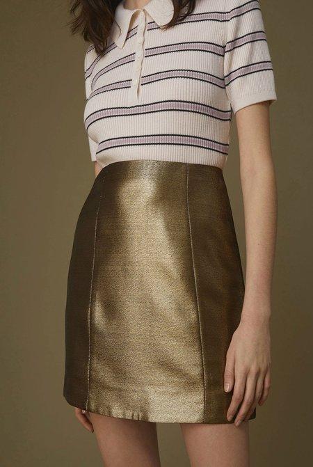 Alexa Chung Gilver Skirt - Gold