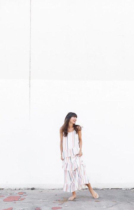 Pinch Tiered Dress - Stripe