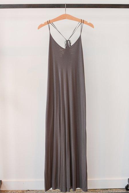 Beautiful People Modal Rib Tie Back Dress - Mushroom