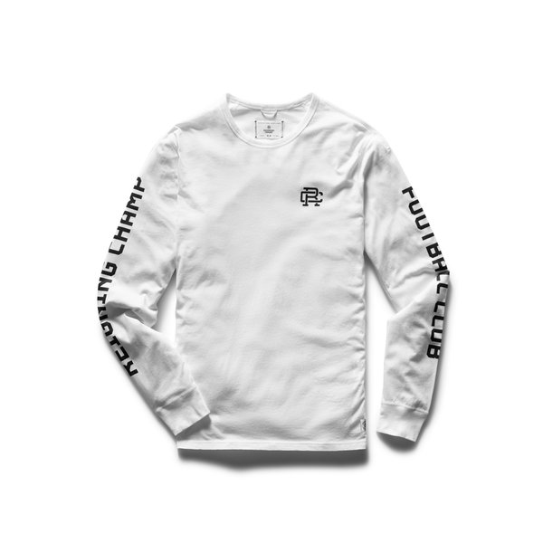 Reigning Champ Pima Jersey RCFC Long Sleeve - White
