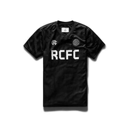 Reigning Champ Striped RCFC Short Sleeve - Black