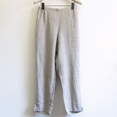 Flax Designs pocketed ankle pant - natural