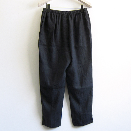 Flax Designs pocketed ankle pant - black