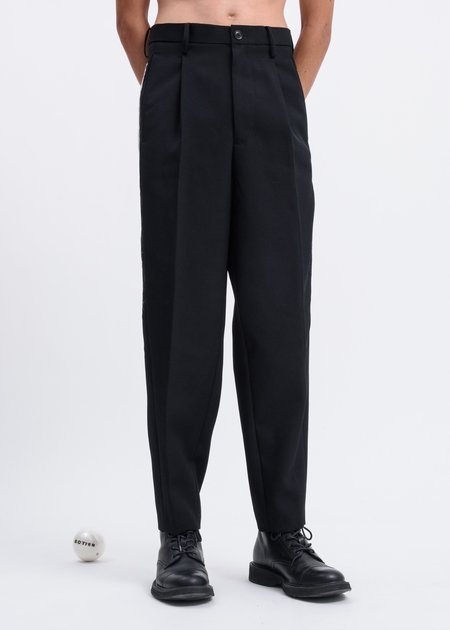 Doublet Chaos Embroidery Wide Tapered Trousers - Black