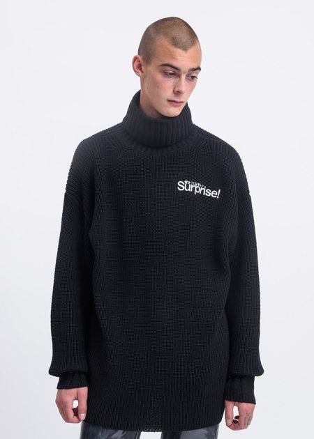 Doublet Disguise Turtle Neck Sweater - Black