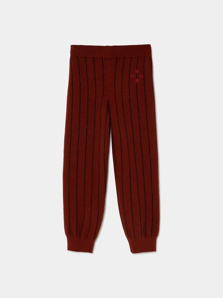 Kids Bobo Choses Knit Jogger Pants - Deep Maroon