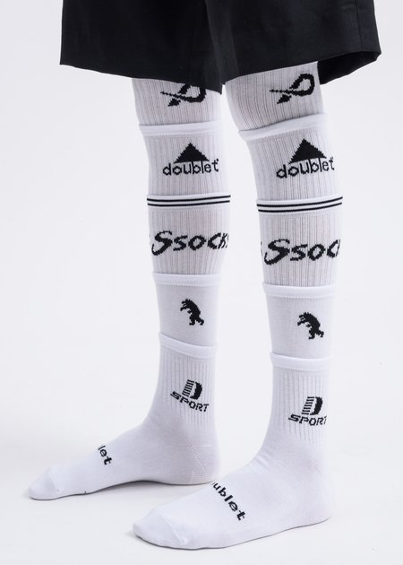 Doublet 5 Layered Socks - White