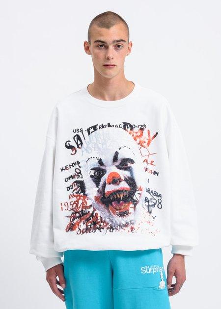 "Doublet ""Horror"" Embroidery Sweatshirt - White"