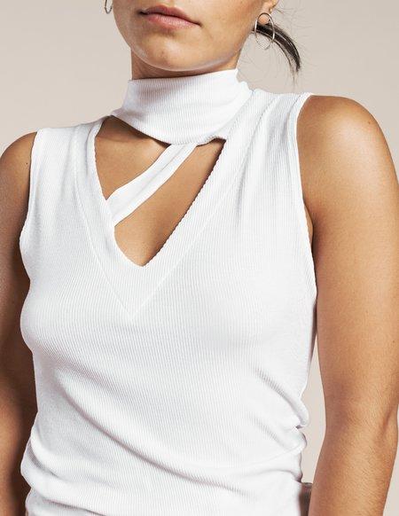 LnA Thea Rib Top - White