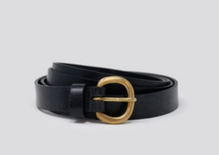 Rachel Comey Mini Estate Belt - Black/Brass
