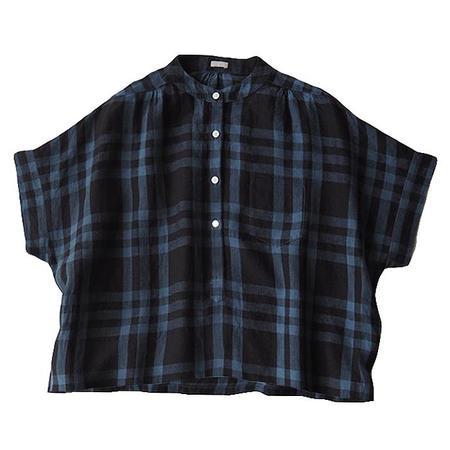 Makié Makie Claudia Shirt - Dark Navy Blue Plaid