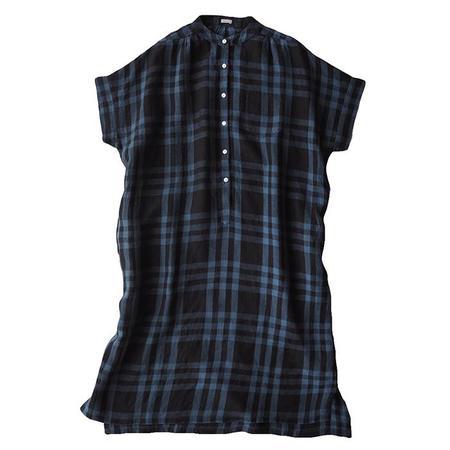 Makié Makie Claudia Shirt Dress - Dark Navy Blue Plaid