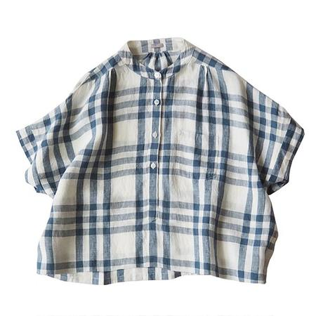 Makié Makie Claudia Shirt - Off White/Blue Plaid