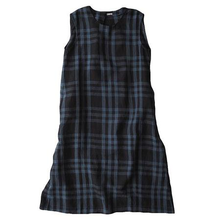 Makié Makie Claudia Sleeveless Dress - Dark Navy/Blue Plaid