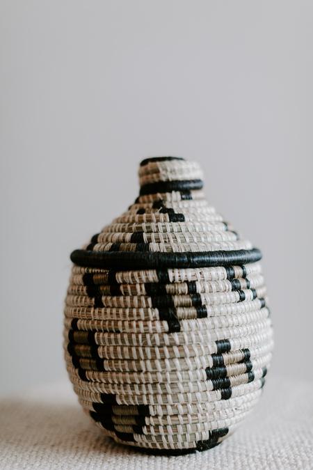 Kazi Lidded Basket - Animal Print