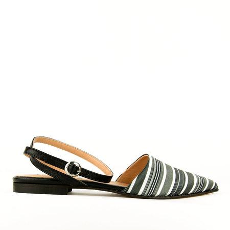 re-souL Gigi Silk Flat - Black/Stripe