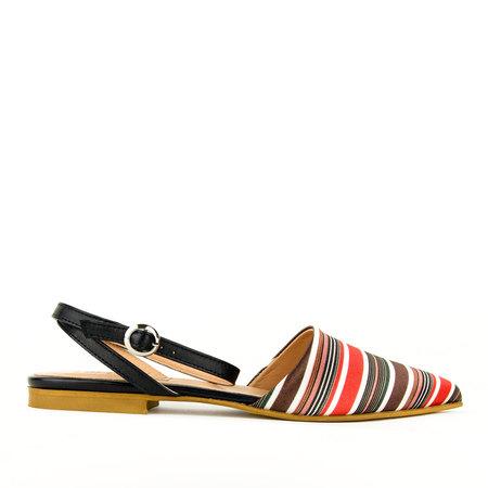 re-souL Gigi Silk Flat - Red/Stripe