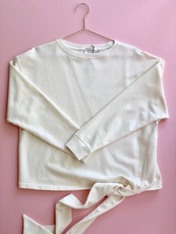 Salua Atelier Lingerie Side Tie Pullover