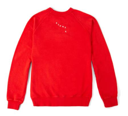 Clare V. Sweatshirt LS - Tomate