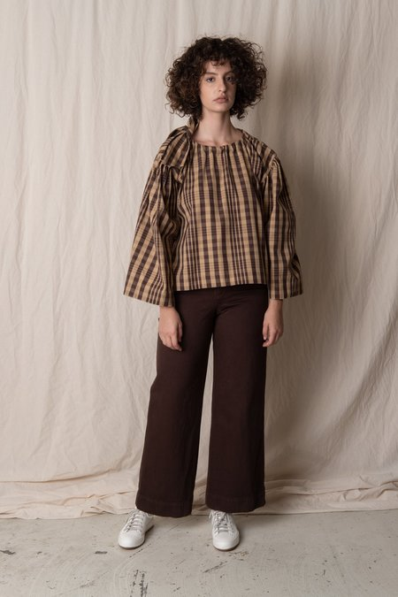 CAWLEY STUDIO BARCO BLOUSE - CHECK