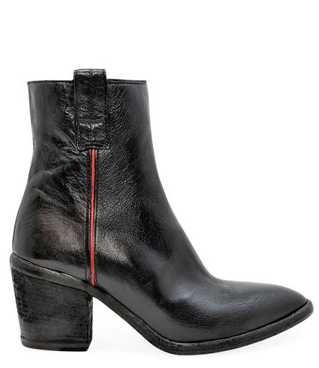 Madison Maison By Fauzian Jeunesse Nero/Rosso Leather Boot