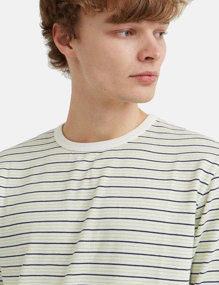 Wood Wood Viggo Striped Long Sleeve T-Shirt - Off White